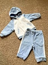 Baby GAP Hooded Sweatsuit Baby Boy Size 6-12 Months Blue & White