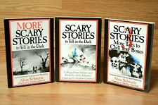 VINTAGE Scary Stories to Tell in the Dark / Original Scholastic Set - LOT OF 3