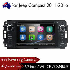 "6.2"" Car DVD GPS Navi Head Unit Stereo Radio For Jeep Compass 2011-2016"