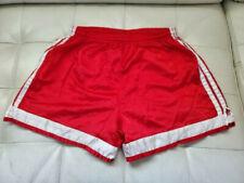 Vintage 90s ADIDAS RED 3 Stripes Shiny Nylon Soccer Shorts Men's M