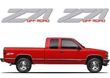 Pair Silver Z71 Decals For 1988-1998 Chevrolet/GMC Fullsize Trucks New Free Ship