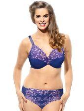$62 NWT PANACHE SCULPTRESSE (46G) Womens Blue Floral Underwired ROSIE Full Bra