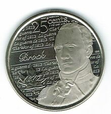 2012 Canadian Brilliant Uncirculated Commemorative  Brock 25 Cent Coin!