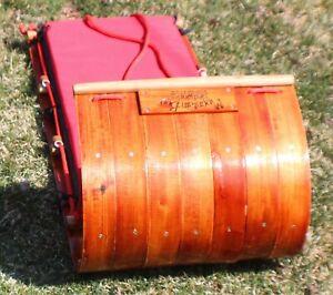 Mountain Boy Sledwork Boggan Toboggan 4 Foot with Cushion Wood
