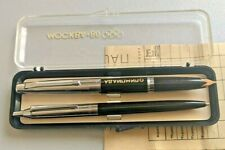 ☭ NOS VTG SET FOUNTAIN PEN 14K GOLD NIB BALLPOINT PEN RARE OLYMPIC USSR SOVIET