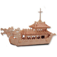 "3-D Wooden Puzzle - Dragon Boat -Gift Item ""Brand New"""