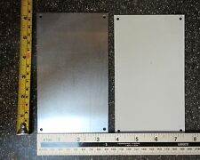 Aluminium plate with corner holes approx 15 x 9 cm (6 x 3 1/2 inches)