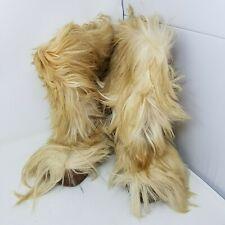 Vintage Blondo Canada Boots 7 Goat Hair Fur Leather Yeti Ski 60s 70s Snow Bunny