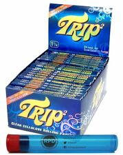 Trip2 Cellulose Clear Rolling Papers Mini Size 24 Packs/Full Box & RPD Doob Tube