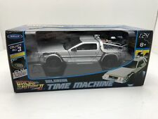 Welly Diecast Metal 1:24 Back to the Future 2 II Delorean Time Machine FLY MODE