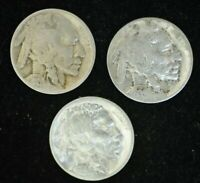 LOT OF 3 X 1935 34 28 - BUFFALO FIVE CENT- VERY GOOD CONDITION