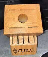 Cutco Knife Block 10 Slots Essentials + 5 Wooden Knife Block Honey Oak
