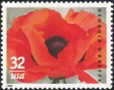 USA 1996 Gergia O'Keefe/Painter/Artists/Poppy/Art/Painting/Flowers 1v (n44705)