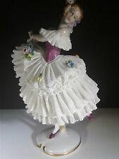 New listing Dresden Antique Volkstedt Porcelain Figurine Germany Lady ,Balerina