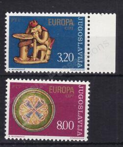 EUROPA MNH STAMP SET 1976 YUGOSLAVIA CRAFTS SG 1721-1722