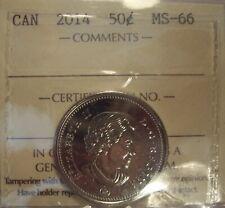 Super Gem Elizabeth II 2014 50 Cents - ICCS MS-66 (XSN 103)