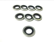 "Dowty seal bonded washer. 1/4"". BSP. Pack of 8. Oil, Fuel Resistant *Top Quality"