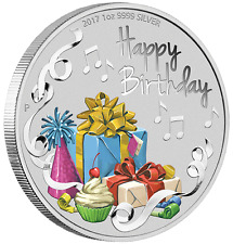 Perth Mint 2017 Happy Birthday 1oz Silver Coin In Card