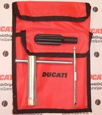 Ducati factory LARGE tool kit bag - 2 POCKETS, shorter plug wrench & screwdriver