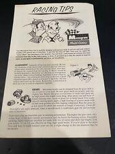 Vintage Monogram Racing Tips Brochure 1965