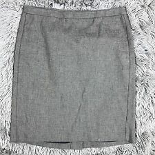 Gap Black and Tan Textured Patterned Straight Skirt Womens Size 4 Fully Lined
