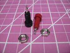 Johnson Cinch Pin Tip Jack Surface Mount 0802mm 1 Pair Redblack