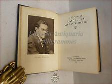 POESIA: THE POEMS OF LASCELLES ABERCROMBIE 1930 con ritratto poeta versi inglese