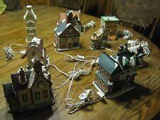 9 pcs Assorted Sizes Vintage Used Christmas Village House Lights