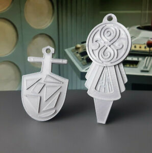 3rd & 7th Tardis Key Inspired Replica Set - Doctor Who Prop / Gift - 3D Printed