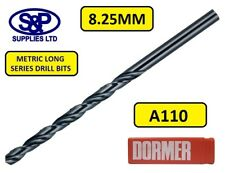 8.25MM DORMER A110 LONG SERIES HSS DRILL BIT 165MM LONG, DORMER BRAND 8.25MM