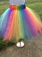 2b1d912103d8 Rainbow colors tutu skirt with Headband, Hand made to order Newborn-5T