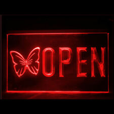 160117 Open Butterfly Beauty European Professional Display Led Light Sign