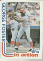 FREE SHIPPING-MINT TO NRMINT-1982 (REDS) Topps #701 George Foster IN ACTION