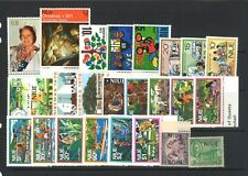 Niue 25 All Different Stamps in Glassine Bag Mint