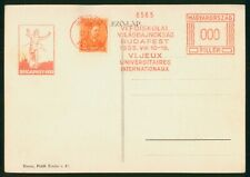 Mayfairstamps Hungary 1935 Budapest Running Famous Man Postcard wwr_11085