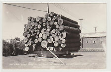 1946 RPPC Last Load of Logs, Grand Rapids MN Minnesota