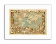 MAPS BRITISH EMPIRE 1886 IMPERIAL ILLUSTRATED PEOPLE WORLD Canvas art Prints