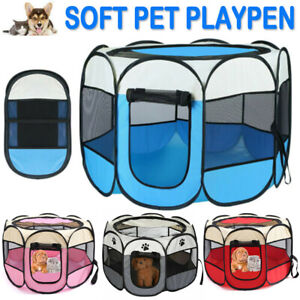 Large Foldable Fabric Dog Crate Cat Cage Pet Travel Puppy Play Pen Pop up Tent