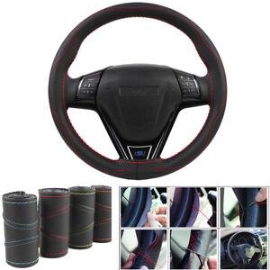 "15"" Wearproof PU Leather Car Steering Wheel Cover Protector Anti-slip Universal"