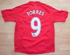 Liverpool 2008 Home Adidas Football Soccer shirt jersey 11-12 ans #9 Torres