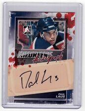 PAUL LAUS 11/12 ITG Enforcers Auto Autograph A-PL Signed Signature Hockey Card
