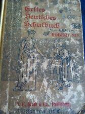 Antique German School Book 1899 Robert Nix Boston Illustrated Rare Good