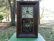 Antique Rare Terry & Andrews Ogee 30 hour weight clock, key wind, made 1840's