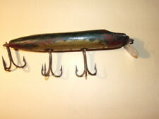 7 inch antique vintage wood fishing lure hand made original paint ocean?