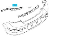 GENUINE VAUXHALL ASTRA H GUIDE , REAR BUMPER MOUNTING RIGHT HAND 24460359