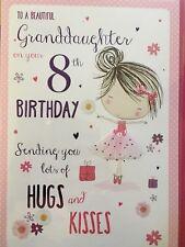 Granddaughter 8th Birthday Card