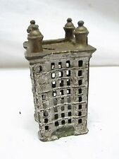 Cast Iron Office Building Dime Still Sky Scraper Bank Toy Penny Coin Tower B