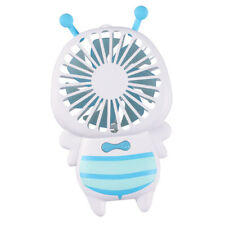 Cute Bee Mini Fan Air Conditioner Portable Rechargeable Handheld Fan_Blue