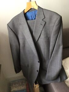 """Grey suit. Mens Two Piece Suit, """"Sartorial"""" Dark Charcoal Pure Wool"""
