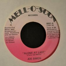 Joe Simon Mell-O-Soun 8001 Alone At Last and Stay Love